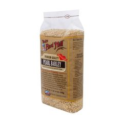 Bobs Red Mill Pearl Barley - 30 oz - Case of 4 - Bobs Red Mill Pearl Barley is a mildly nutty-tasting grain used in soups, stews, cereals, salads, stir fries, pilafs, and stuffings. With the bran partially removed, these polished grains contain 5g of protein and 8g of dietary fiber per serving and have a quicker cooking time. Try adding Pearl Barley to the Bobs Red Mill Vegi Soup Mix! Ingredients: Pearl Barley Organic: NA Gluten Free: No Dairy Free: No Yeast Free: No Wheat Free: No Vegan: No…