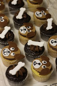 Jack & Bandit- Pupys Cake | Cupcakes Take The Cake: Cow and dog cupcakes