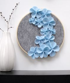Cute decor piece! I would do grey and mustard yellow flowers instead.