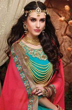 Bridal and Engagement Lehenga Choli Lehenga Choli Online, Ghagra Choli, Lehenga Blouse, Bridal Lehenga Choli, Silk Dupatta, Indian Dresses, Indian Outfits, India Fashion, Girl Fashion