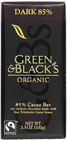 Green & Black's Organic Dark Chocolate, 85% Cacao, 3.5 oz - http://bestchocolateshop.com/green-blacks-organic-dark-chocolate-85-cacao-3-5-oz/