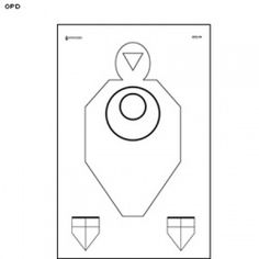 of Justice Simulated Distance TQ-16 Target  Pack of 25 US Dept