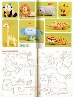 templates animals giraffe panda bear lion hippo elephant tiger alligator fox