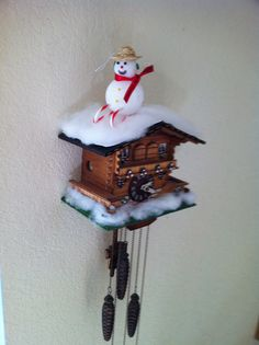 Blanket Your Cuckoo Clock With Snow For Christmas The Is Just Polyester
