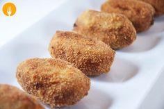 Croquetas de pollo ¡Croquetas! Y, además…, ¡de pollo! Si hace unos días compartía con todos vosotros mi receta secreta de las croquetas de champiñones, hoy