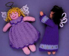 """Folk Art Angel Doll"" Crotchet Animals Must make! Doll Patterns, Knitting Patterns, Crotchet Animals, Free Crochet, Knit Crochet, Diy Arts And Crafts, Xmas Decorations, Arm Warmers, Knit Patterns"