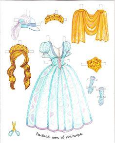 Princess Paper Doll - Cinderella   Gabi's Paper Dolls * 1500 free paper dolls Arielle Gabriel's The International Paper Doll Society #QuanYin5 Twitter QuanYin5 Linked In #ArtrA *