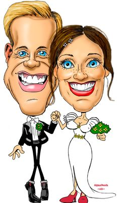 Wedding Caricature, Caricatures, Anatomy, Cartoons, Princess Zelda, Hollywood, Drawings, Illustration, Fictional Characters