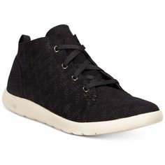 Bearpaw Gracie Lace-Up Sneakers ($50) ❤ liked on Polyvore featuring shoes, sneakers, black, kohl shoes, lace up shoes, lightweight sneakers, laced sneakers and bearpaw shoes