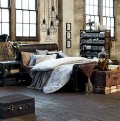 Nice 39 Cozy Industrial Style Bedroom Design Ideas. More at http://trendecor.co/2017/12/28/39-cozy-industrial-style-bedroom-design-ideas/