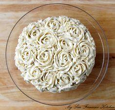 Homemade Strawberry Rose Cake