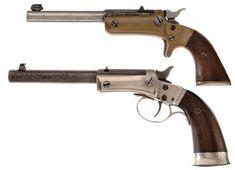 Two Stevens Single Shot Pistols -A) Stevens Pocket Rifle
