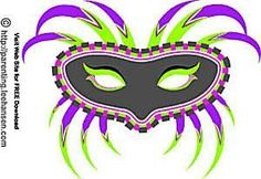 Print Your Own Ready-to-Wear Mardi Gras Masks for Free: Feathery Printable Mardi Gras Mask by Leehansen