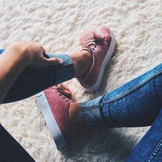 Tênis mais lindo desse mundo!!! ✨ Obrigada @it.design pelo presentinho  #shoes #cute #pink