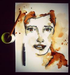 Image result for artistic coffee cups drawing painting