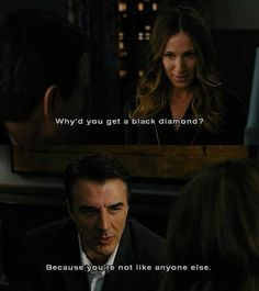 Mr.Big knew what type of ring she was..