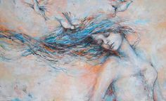"Saatchi Art Artist Kim Normandin; Painting, ""In the wind"" #art"