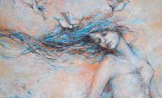 """Saatchi Art Artist Kim Normandin; Painting, """"In the wind"""" #art"""