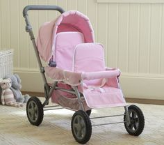 Perhaps this would help C adjust to having a new baby sister. She could put her little sister doll in the front and her big sister doll in the back, just like C and J's tandem stroller.