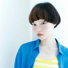 ストレート マッシュショート ヘアスタイルカタログ 髪型 HAIRstyle 美容室 可愛い short