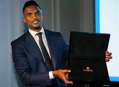 Le footballeur camerounais Eto'o récompensé pour sa lutte contre le racisme