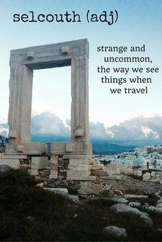 selcouth travel words