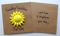 Sunflower Cards, Yellow Birthday, Miss You Cards, Sending Hugs, Beautiful Artwork, Card Sizes, All Print, Your Cards, Quilling