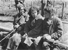 Soviet female soldiers captured by the Germans. Their plight was equal, if not worse, than the men's.