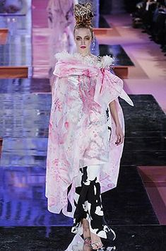 Christian Lacroix Spring 2005 Couture Fashion Show - Raquel Zimmermann