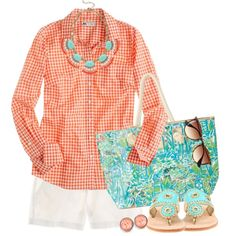 """Lilly, Jacks, & J.Crew"" by qtpiekelso on Polyvore"