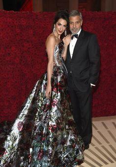 Amal and George Clooney at the 2018 Met Gala | POPSUGAR Celebrity