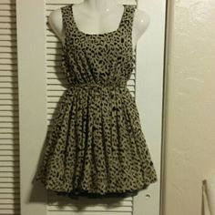 PRICE REDUCED! ! !  Dress Black and taupe animal print dress Rue 21 Dresses Midi