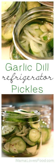Garlic Dill Refrigerator Pickles are a simple recipe for delicious crispy pickles. This no boil pickle recipe will become a family favorite in no time! Refrigerator Pickle Recipes, Refridgerator Pickles Dill, Homemade Pickles, Pickles Recipe, Canning Pickles, Fermented Foods, Canning Recipes, Antipasto, Vegetable Recipes
