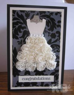 All Dressed Up Framelits Die wedding card Stampin Up