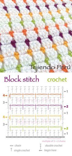ergahandmade: Crochet Stitches Diagrams
