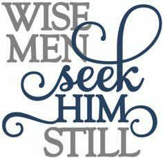 Silhouette Online Store: wise men seek him - phrase