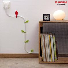 Wire Blooms Cable Tidy Clips Cute For When You Cant Hide Them Anchor By Panasonic Interesting Home Decor