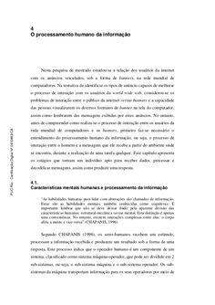 Capítulo 4: O processamento humano da informação