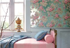 Pantone, the color experts, have named the color. For the first time ever, Pantone has Pantone 2016, Pantone Color, Anna French Wallpaper, Beautiful Wallpaper, Pink Headboard, Rose Quartz Serenity, Feminine Decor, House Of Turquoise, Pastel Decor
