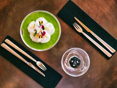Have a wonderful, colourful day! In photo: beautiful dishes served in the SinStella glass and with our MoonLashes cutlery. By Faruk Pinjo. Savarin, Culinary Arts, Food Presentation, Food Art, Cutlery, Plates, Pure Products, Dishes, Tableware