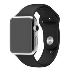Sports iWatch Band Strap for Apple Watch Series 5 4 3 2 Easy and direct installation and one button removal. Silicone Watch Band ONLY ! > For Apple Watch Series 5 /Series 4 / Series 3 / Series 2 / Series Apple Watch 42mm, Apple Wrist Watch, Apple Watch Series, Apple Watch Men, Black Apple Watch Band, Apple Band, Smartwatch, E Commerce, Apple Watch Silicone Band