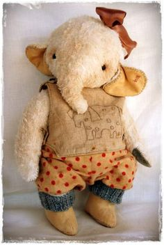 Vintage Style Mohair Elephant by By My Primitive Sistas | Bear Pile
