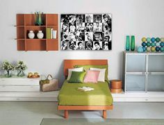 All your friends in a collage. Check out how it looks on your bedroom wall..