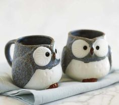cuteness overload!!! -  Owl Mugs And Tea Set