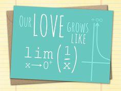 "Nerdy Love Card - Funny Math Gift - ""Infinite Love"" - Funny Math Card - Nerdy Cards, Nerdy Boyfriend Cards, Math Gift, Math Boyfriend Gift"