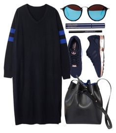 """""""Comfy Look"""" by genuine-people ❤ liked on Polyvore featuring adidas, Estée Lauder, Urban Decay, black and Blue"""