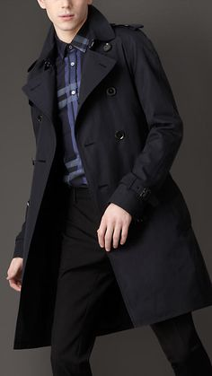 Custom Made Dark Blue Double Breasted Trench Coat Men, Winter Overcoat Men Long Coat, Cashmere Wool Coat Winter Coats For Men for men Navy Trench Coat, Burberry Trench Coat, Trench Coats, Mens Raincoat, Look Formal, Men's Coats And Jackets, Sharp Dressed Man, Mens Clothing Styles, Cool Outfits
