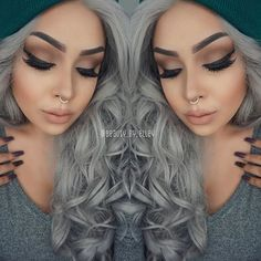 Love her hair, nails and septum also.
