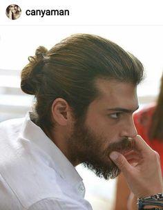 Pin by liya ruz on beautiful men in 2019 Man Bun Curly Hair, Man Ponytail, Biy Haircuts, Cool Boys Haircuts, Boy Braids Hairstyles, Boys Long Hairstyles, Male Hairstyles, Crazy Hair Boys, Hair And Beard Styles