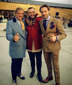 Lino Ieluzzi, Ivan Crivellaro & Riccardo Maria Angelo Viganò - RMAV -  #rmav #pitti #pittiuomo #firenze #florence #italianstyle #style #coat #fashion #sprezzatura #gentleman #fashionweek#outfit #dandy #tailoring #bespoke #linoieluzzi #ivancrivellaro